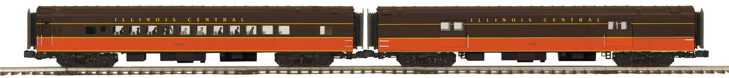 MTH 20-64160 O IC 2-Car 70' Streamlined Coach Passenger Set