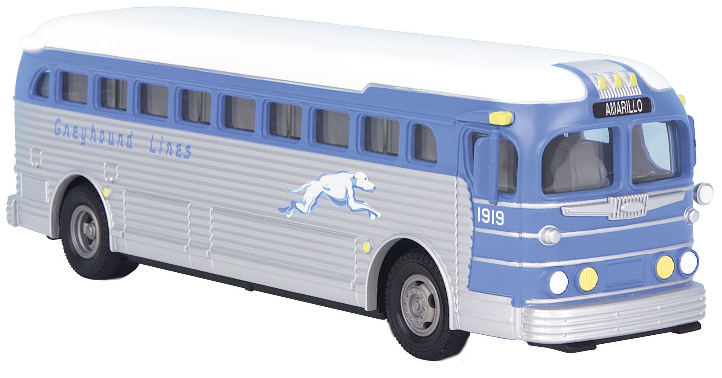 MTH 30-50118 O Greyhound Die-Cast Bus