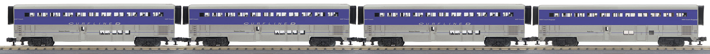 MTH306532 MTH Electric Trains O-31 SuperLiner Set,Amtrak/Surfliner/PointSur#6904