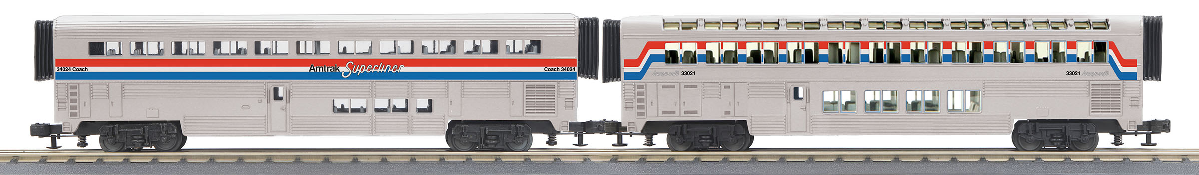 MTH306536 MTH Electric Trains O-31 SuperLiner Set, Amtrak/Phase III #4019 (2)