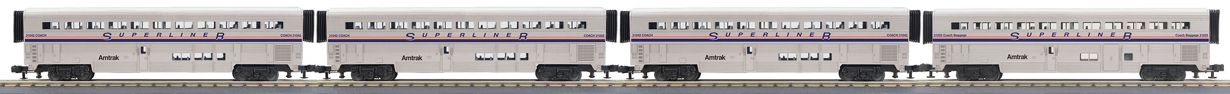 MTH306538 MTH Electric Trains O-31 SuperLiner Set, Amtrak/Phase IV #31025