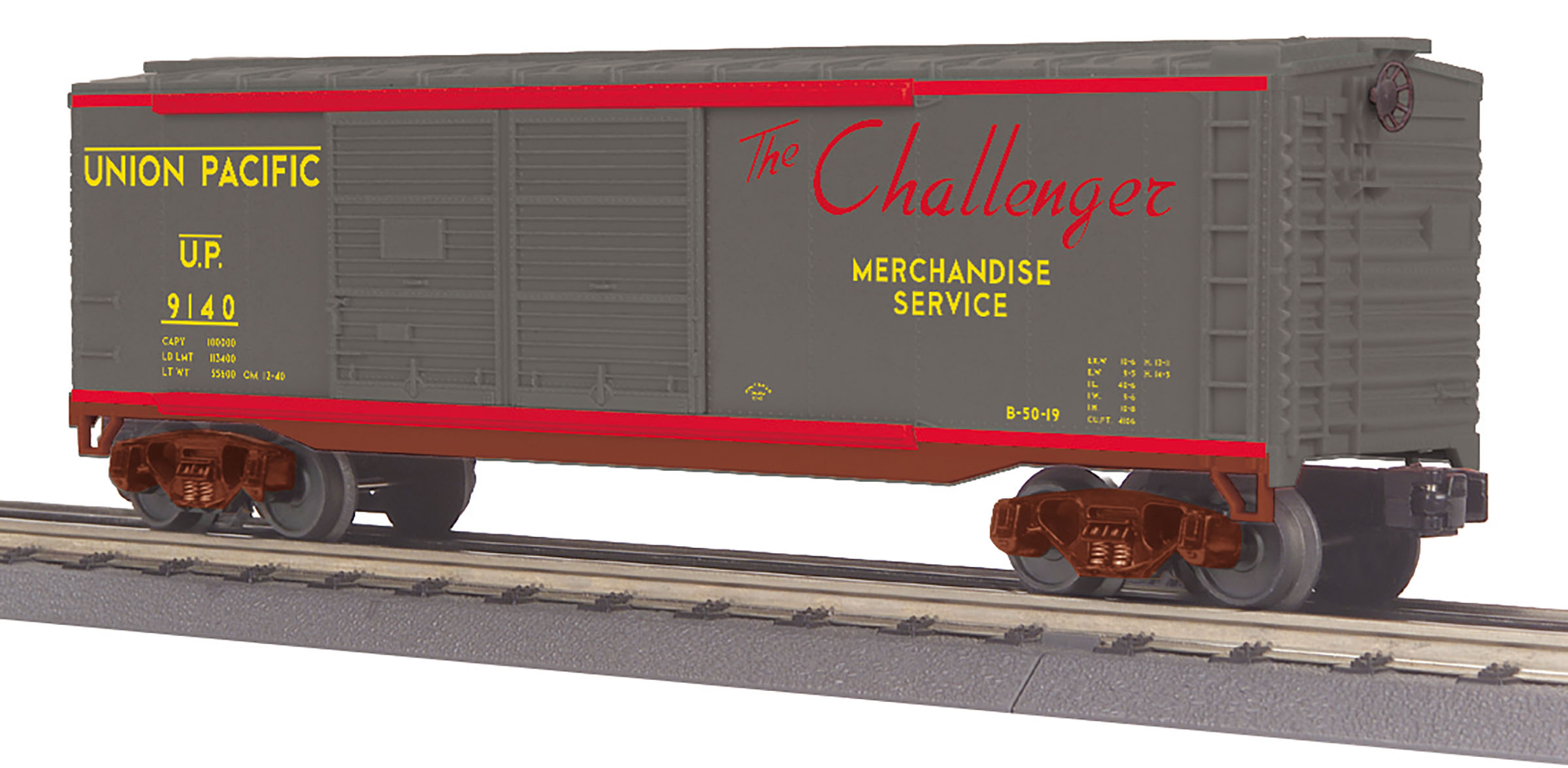 MTH 30-71007 O UP 40' Double Door Box Car