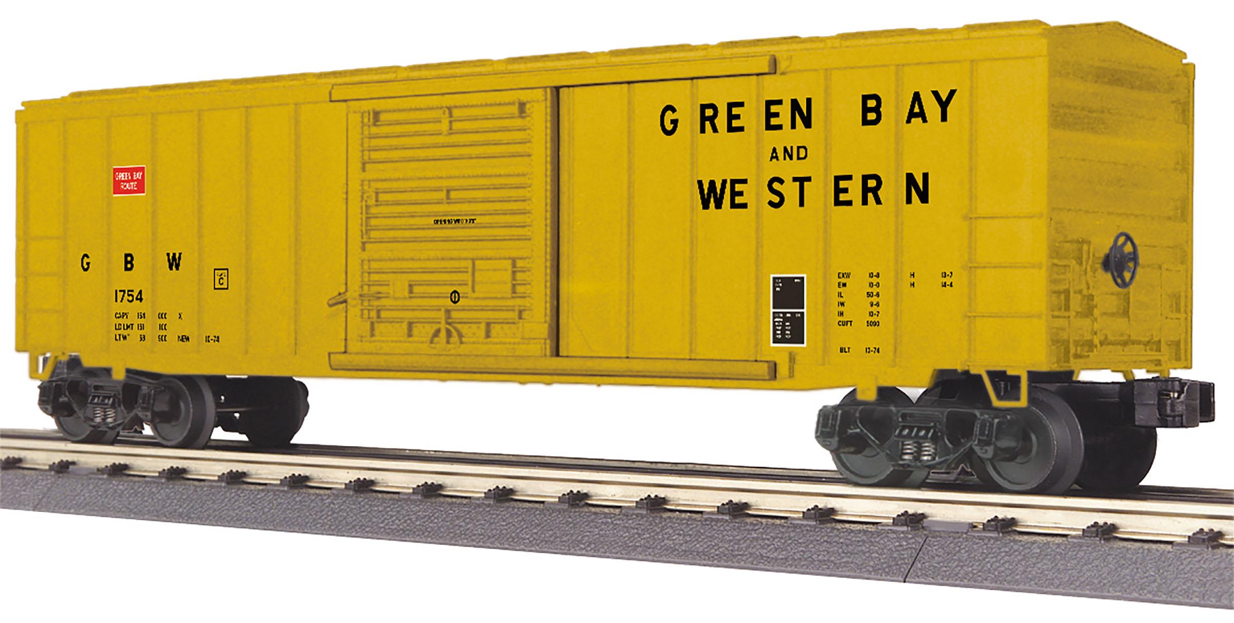 MTH 30-71012 O Green Bay Western 50' Modern Box Car